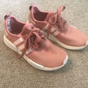 Adidas NMD tennis shoes in rose pink